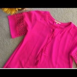 Hot pink Gibson Latimer Tunic Dress NWT